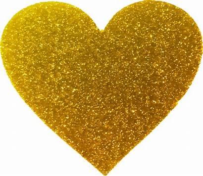 Glitter Sparkle Heart Golden Abstract Transparent Starpng