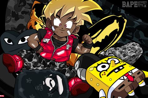 Anime Bdz Gohan For Bape X Iv By Itsmcflyy On Deviantart