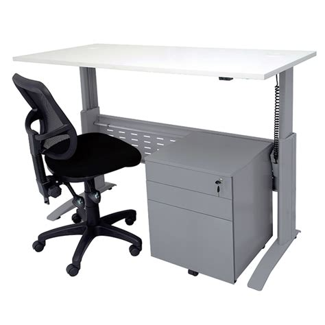 off white desk with drawers smart electric height adjustable desk drawer unit and