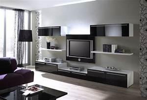 Deco Salon Moderne : stunning model salon moderne noiretblanc ideas awesome ~ Zukunftsfamilie.com Idées de Décoration