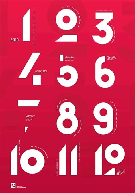 numbers graphic design typography font typo in cool shit