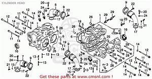 Honda Gl1000 Goldwing 1978 Usa Cylinder Head