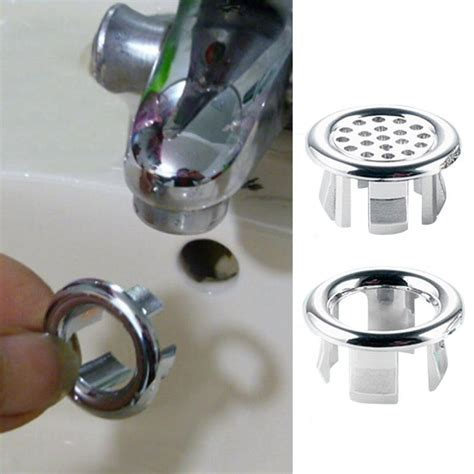 1Pcs Sink Hole Round Overflow Cover Ceramic Pots Basin