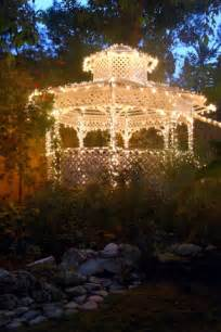 Wedding Gazebo with Christmas Lights