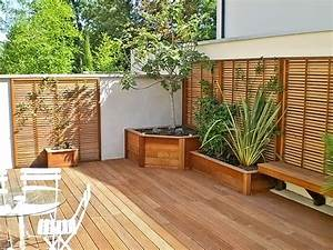 idee amenagement terrasse bois newsindoco With idee amenagement terrasse bois