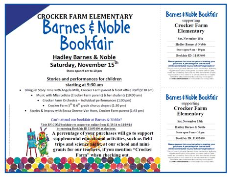 barnes and noble hadley crocker farm pgo barnes noble bookfair for crocker farm