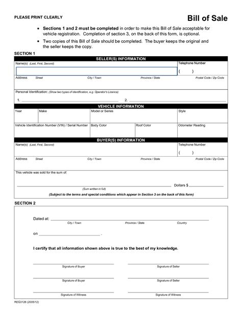 car bill of sale word printable sample rv bill of sale form form laywers