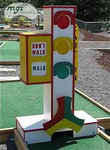 Large Outdoor Barn Lights Mini Golf Inc Traditional Obstacles