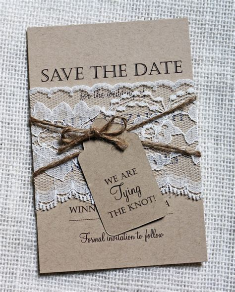 shabby chic save the date items similar to lace wedding save the date save the dates rustic wedding shabby chic wedding