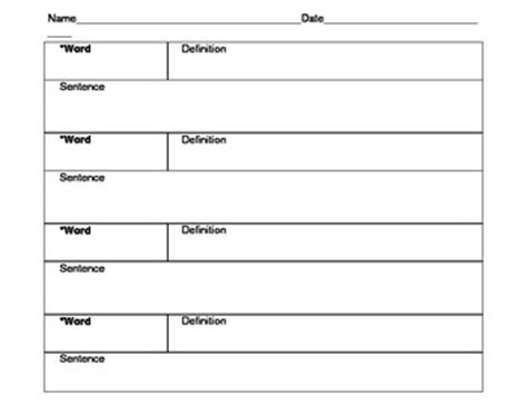 Template Definition Blank Glossary Images Search