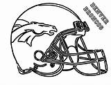 Broncos Coloring Denver Helmet Usage Football Azcoloring Via sketch template