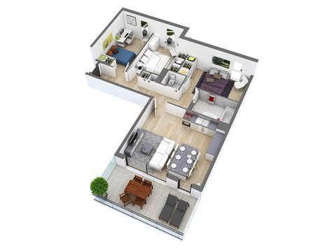 3 Bedroom Small House Design 25 more 3 bedroom 3d floor plans architecture design