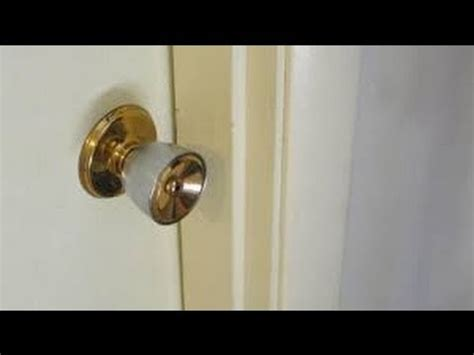 how to lock your door without a lock easy way how to open a door lock without a key