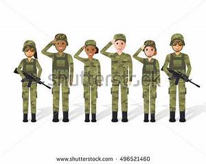 Group Army Military People Man Woman Stock Vector ...