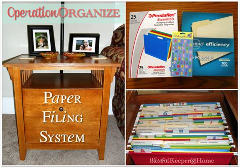 Blissful Keeper At Home Operationorganize Paper Filing