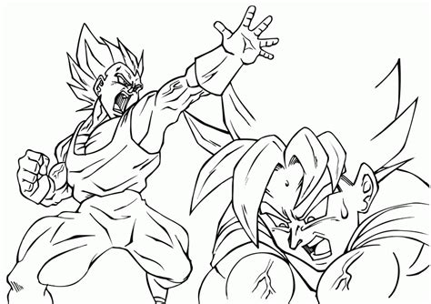 coloring pages vegeta  goku coloring home