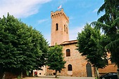 The Beautiful Tuscan Town Of San Miniato, Italy - Hand ...