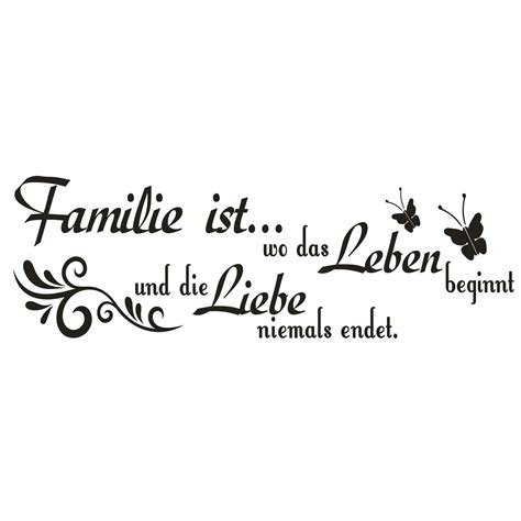 familien sprüche g576 spruch wandtattoo familie ist wo das leben liebe aufkleber zitat spr 252 che ebay