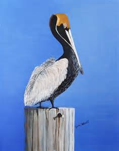 Louisiana Brown Pelicans Paintings