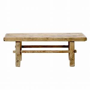 antique natural solid wood coffee table by bloomingville With antique solid wood coffee table