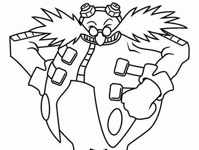 Coloring Eggman Dr Pages Sonic Popular Dreggman
