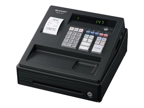bureau de caisse sharp xe a147 bk caisse enregistreuse calculatrices