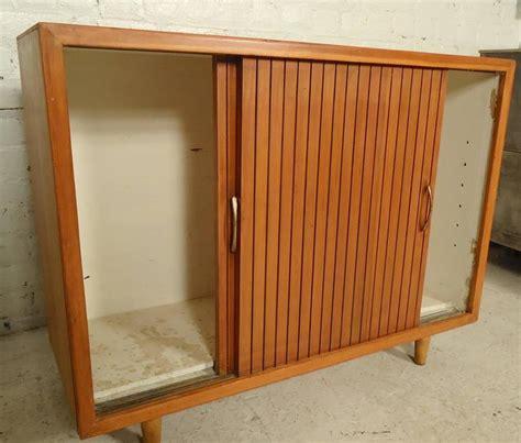 mid century cabinet doors mid century modern sliding door cabinet at 1stdibs