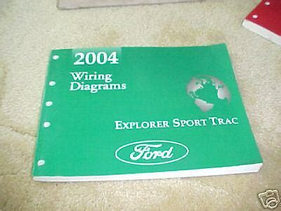 Ford Explorer Sport Trac Wiring Diagrams Manual Ebay