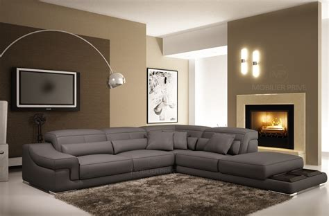 canap angle gris clair canap mobilier privé
