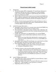 Sample Outline for Research Paper Examples