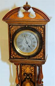 Antique, English, Marquetry, Inlaid, Rosewood, Miniature, U0026quot, Grandfather, U0026quot, Mantle, Clock, For, Sale, At, 1stdibs