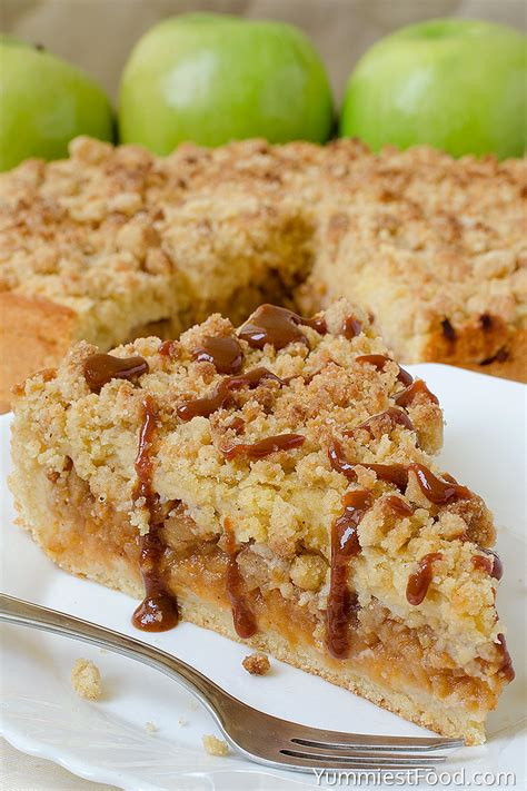 Caramel Apple Crumb Cake   Recipe from Yummiest Food Cookbook
