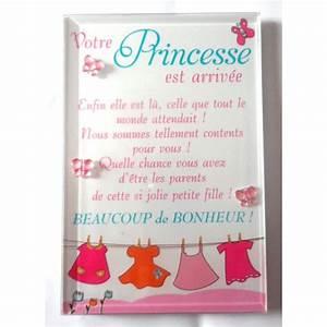 Petit Cadre Deco : naissance petit cadre d co a poser votre princesse est arriv e ~ Teatrodelosmanantiales.com Idées de Décoration