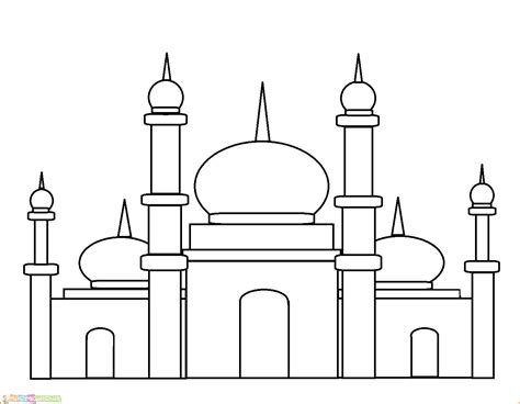 sketsa gambar lomba mewarnai islami