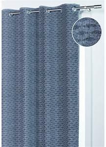 Rideau Forme Geometrique : rideau en forme de vaguelette aspect maille gris homemaison vente en ligne rideaux ~ Melissatoandfro.com Idées de Décoration