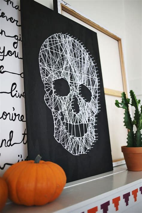 Make Your Own Skull String Art  A Beautiful Mess