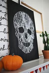 Deco Halloween Diy : make your own skull string art a beautiful mess ~ Preciouscoupons.com Idées de Décoration