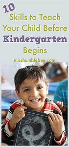 Ten Skills to Teach Your Child Before Kindergarten Begins