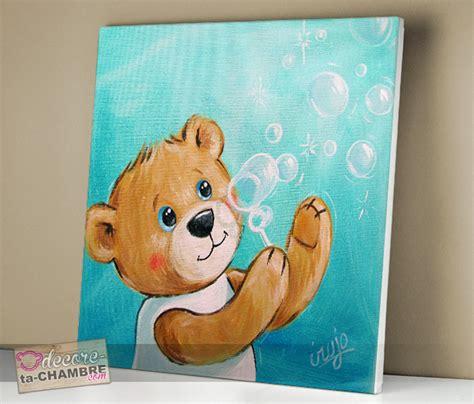 tableau chambre bébé garçon tableau ourson dco nounours pour chambre enfant vente