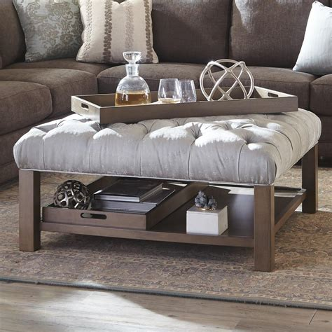 Large Cushioned Ottoman by Cocktail Ottoman With Storage Coffee Table Enchanting