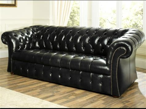 canapé chesterfield cuir noir photos canapé chesterfield cuir noir