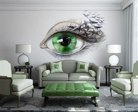 Decorating Ideas Walls Living Room by 15 Refreshing Wall Mural Ideas For Your Living Room