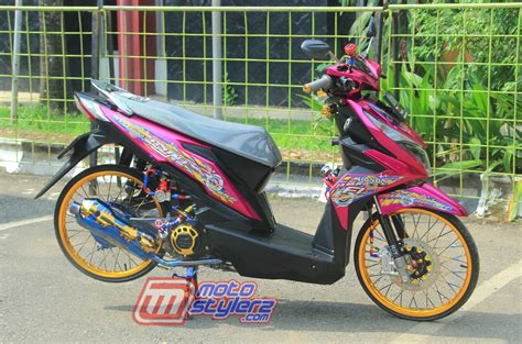 Thailook Beat by Modifikasi Beat 2017 Karawang Diserukan Aseso 2 Tone