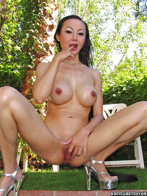 Seductive Asian Milf Ange Venus Stripping And Spreading