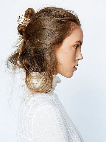 cool messy updo  butterly clip clips  accessories
