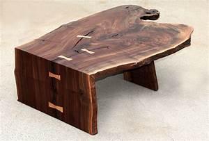 Custom Modern Coffee/Cocktail Table, Waterfall, Walnut by