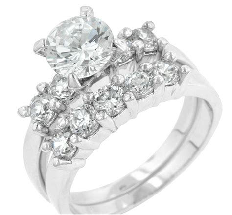 wedding ring connectors classic engagement wedding ring set 4ct 9939