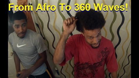 afro  deep  waves   sides  hairstyle