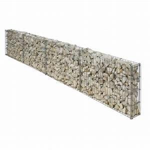 Cailloux Blanc Leroy Merlin : gabion en aluminium zing gris 25 x 100 cm leroy merlin ~ Nature-et-papiers.com Idées de Décoration