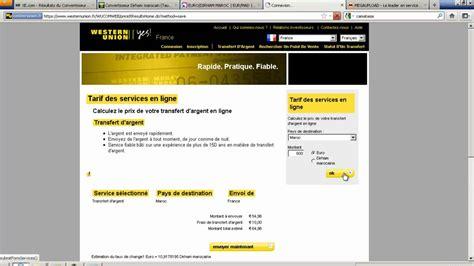 bureau de transfert d argent frais réel transfert argent union